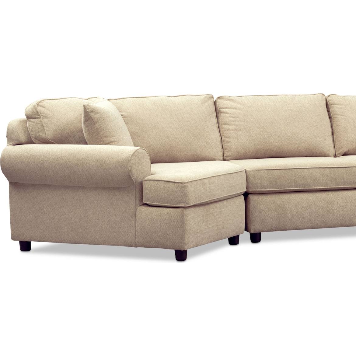 Ashton 3 Piece Sectional With Cuddler
