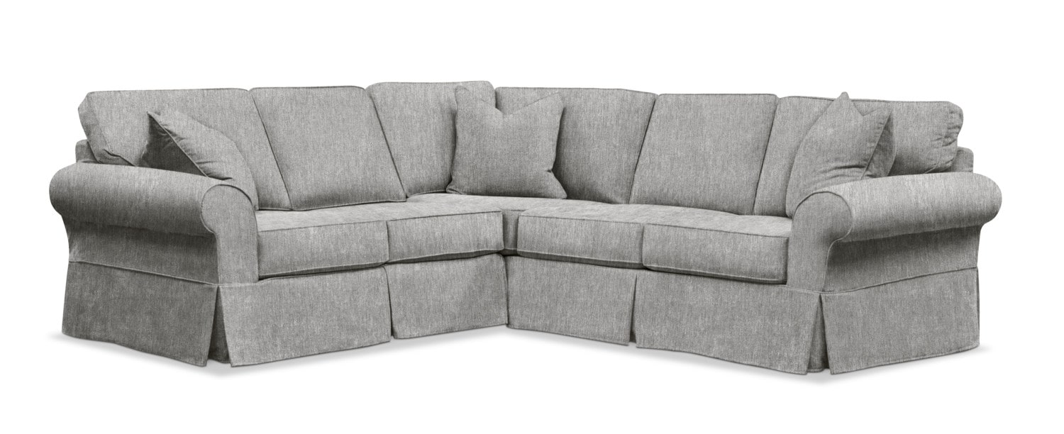 Living Room Furniture - Sawyer 2-Piece Small Slipcover Sectional