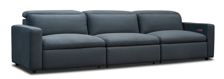 Living Room Furniture - Happy 3-Piece Dual Power Reclining Sofa