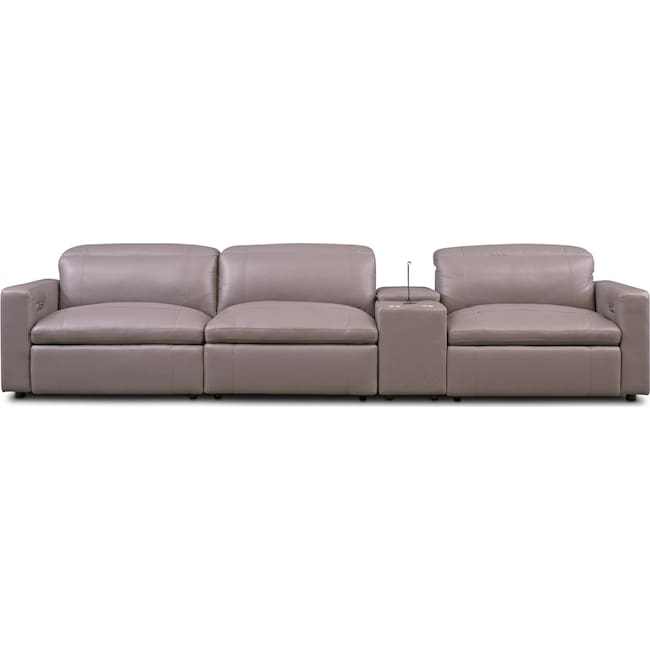 Happy 4 Piece Dual Power Reclining Sofa With Console Value City