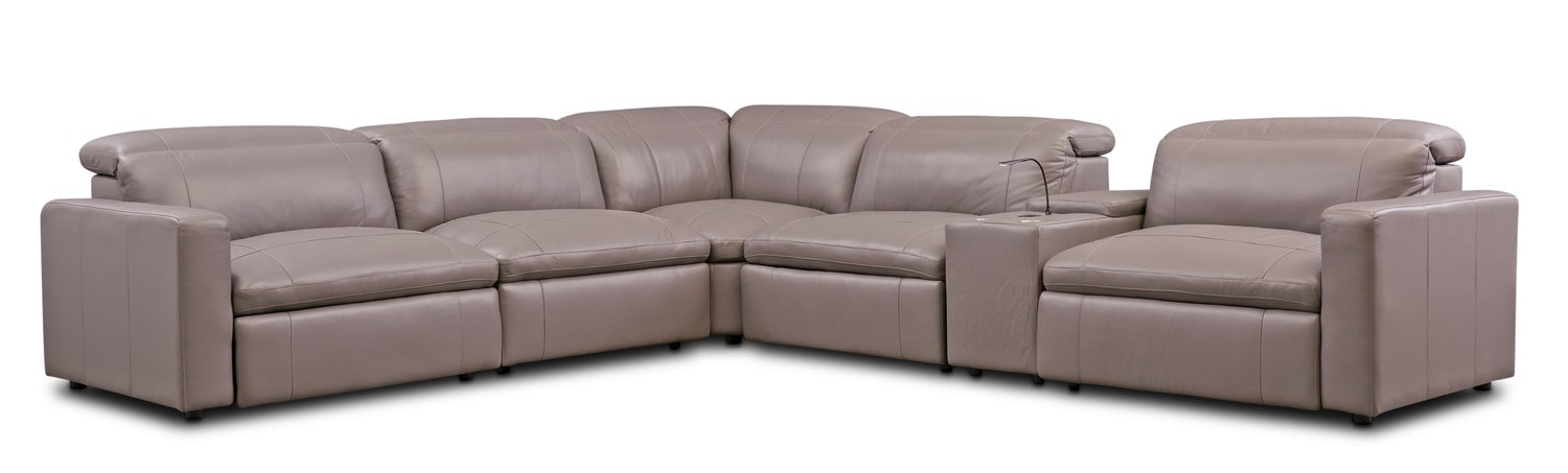 Merveilleux Living Room Furniture   Happy 6 Piece Dual Power Reclining Sectional ...