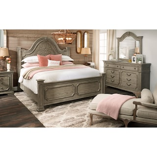 Chatelet 5-Piece Bedroom Set with Dresser and Mirror