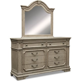 Chatelet Dresser and Mirror - Antique Taupe