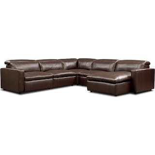 Happy 5-Piece Dual Power Reclining Sectional with Chaise
