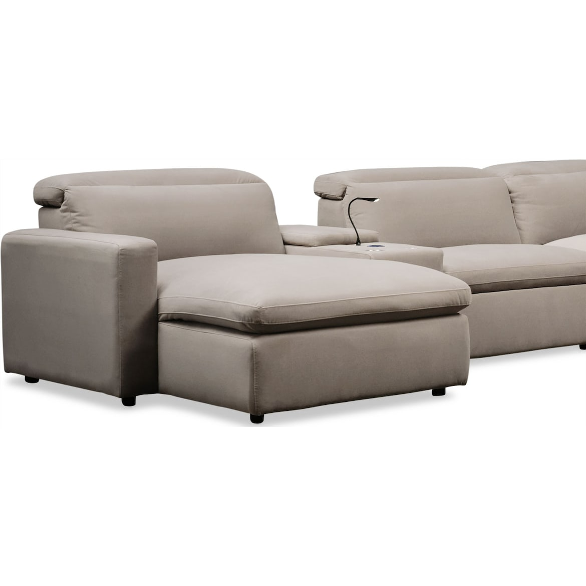 Happy 6 Piece Dual Power Reclining Sectional With Chaise