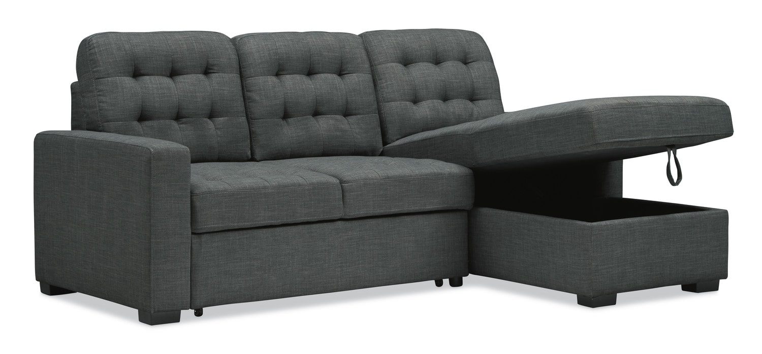 Chatman 2 Piece Sleeper Sectional With Chaise ...