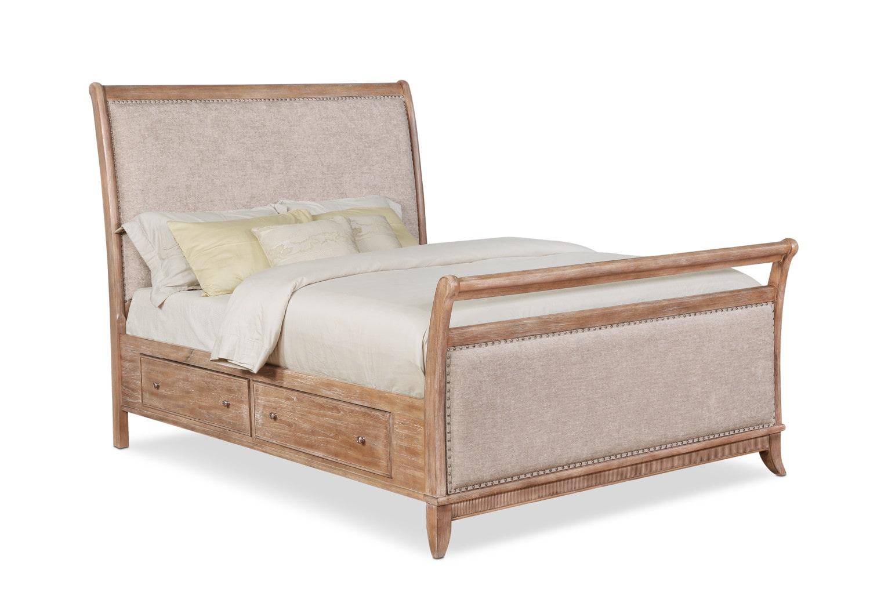 Bedroom Furniture - Hazel Upholstered Storage Bed