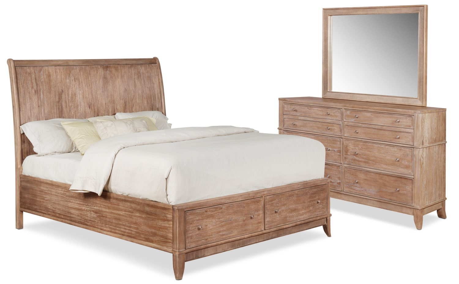 Hazel 5-Piece Bedroom Set with Dresser and Mirror | Value City ...