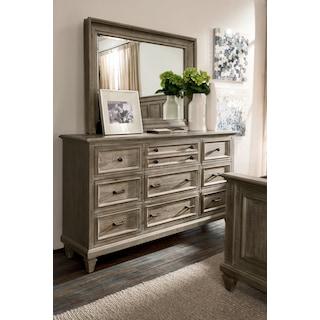 Harrison Dresser and Mirror - Gray