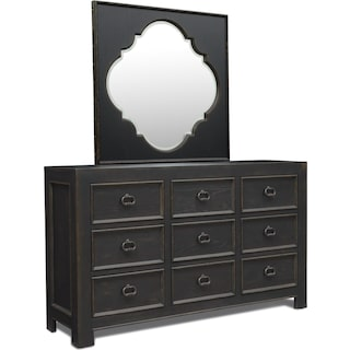Lennon Dresser and Mirror - Kettle Black