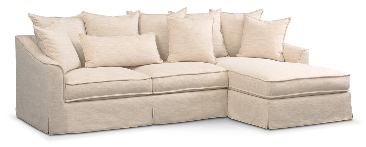 Brooke Ivory 2 Piece Sectional With Chaise By Kroehler