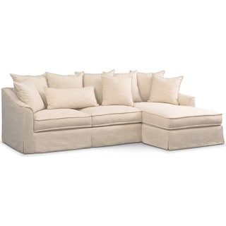 Brooke Ivory 2 Piece Sectional With Chaise