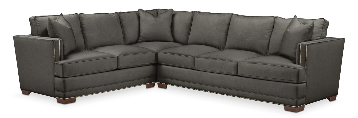 Living Room Furniture - Arden 2-Piece Sectional with Sofa