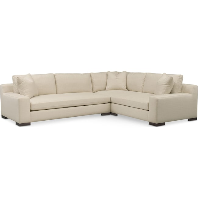 Living Room Furniture - Ethan 2-Piece Sectional with Sofa