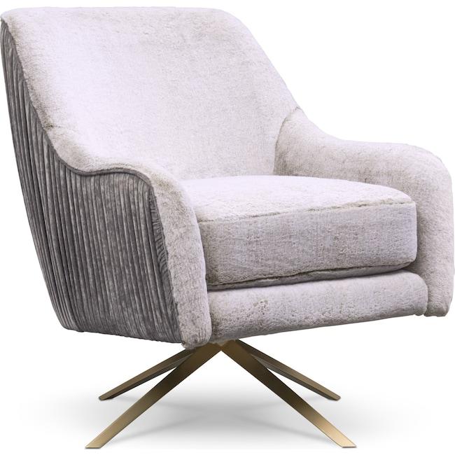 Living Room Furniture - Margot Swivel Chair - Gray