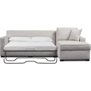 Mayson 2-Piece Right-Facing Full Memory Foam Sleeper Sectional and Chair - Beige