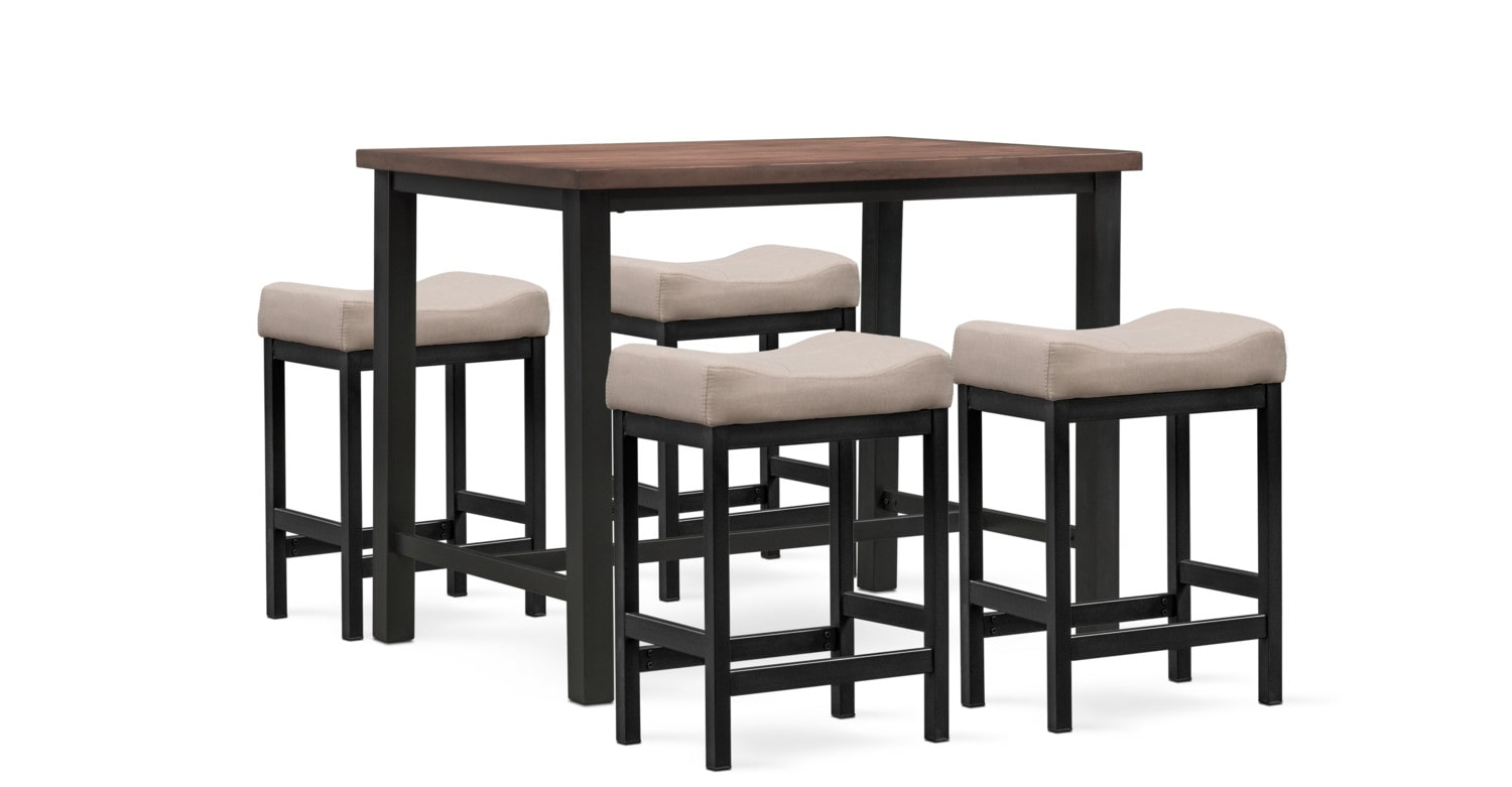 Dining Room Furniture - Arlo 5-Piece Pub Set