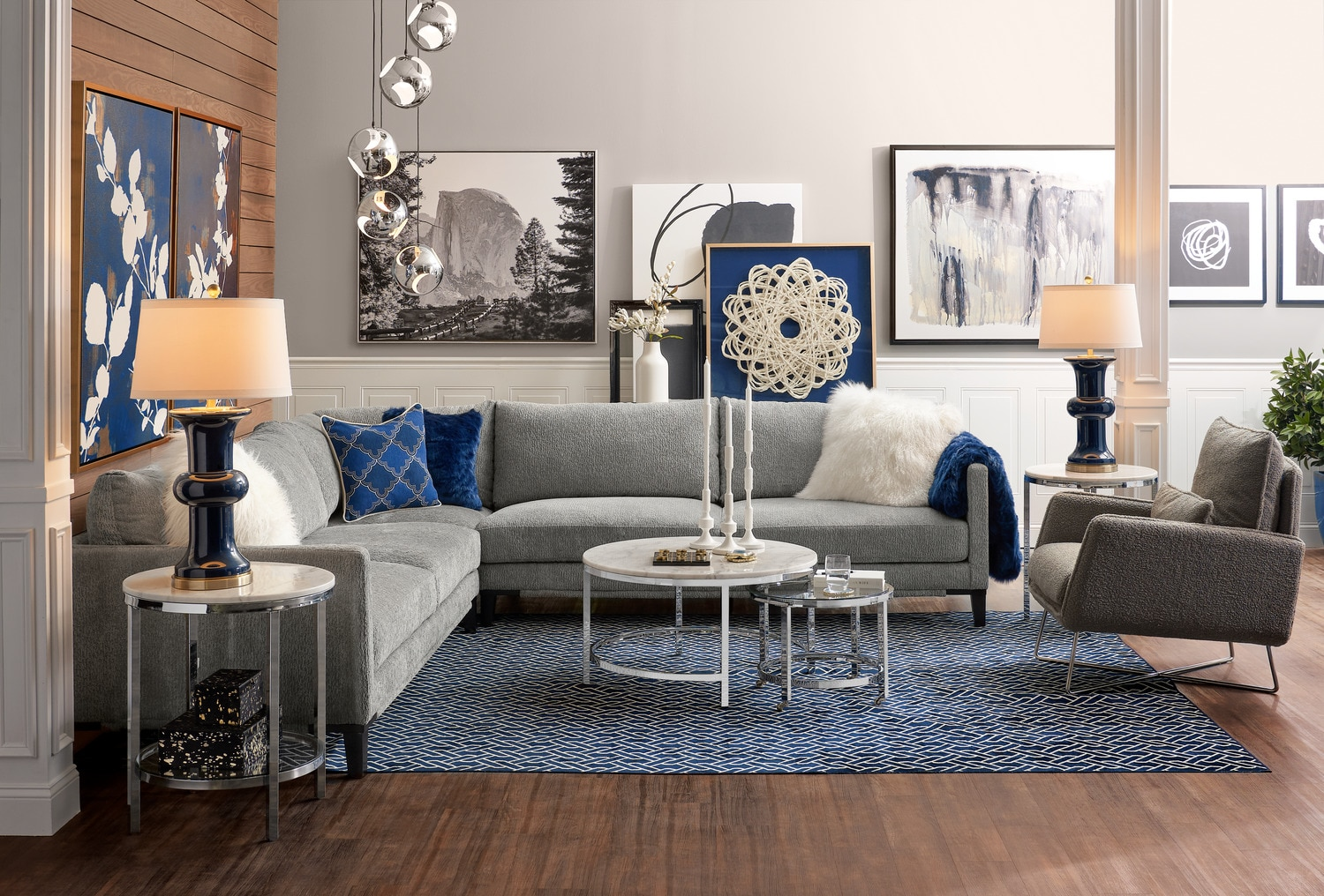 Myles 3 Piece Sectional Light Gray Value City Furniture And