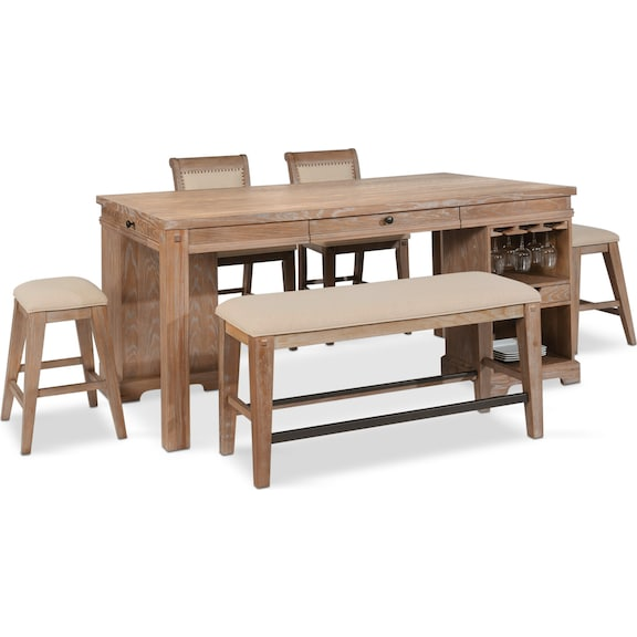 Stupendous The August Dining Collection Value City Furniture And Ibusinesslaw Wood Chair Design Ideas Ibusinesslaworg