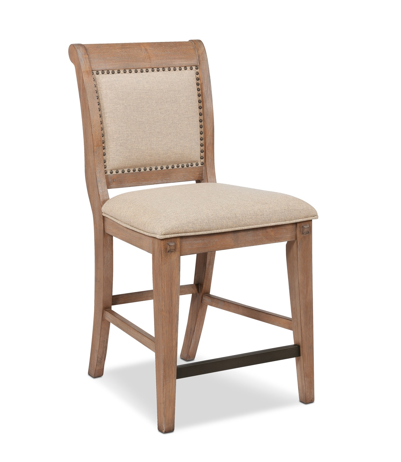 Dining Room Furniture - August Counter-Height Upholstered Stool - Latte