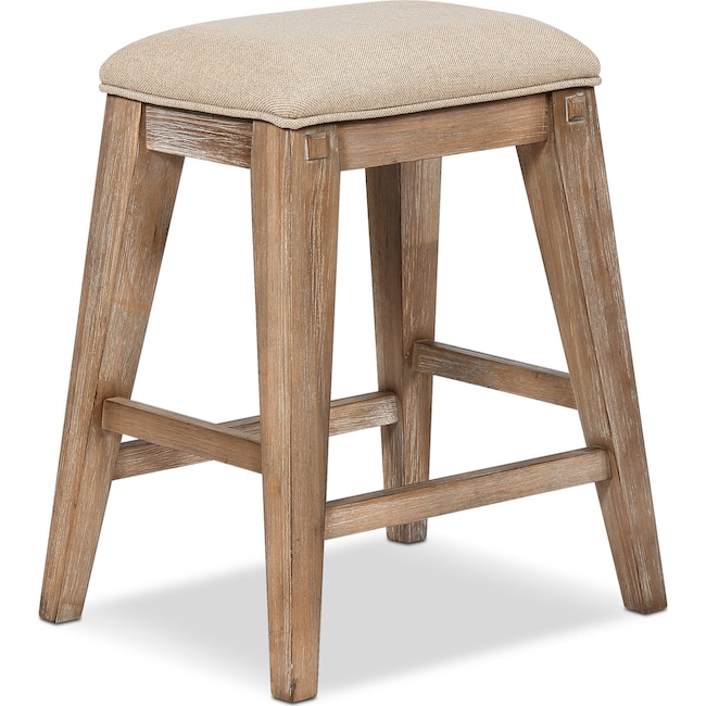 Dining Room Furniture - August Counter-Height Backless Upholstered Stool - Latte