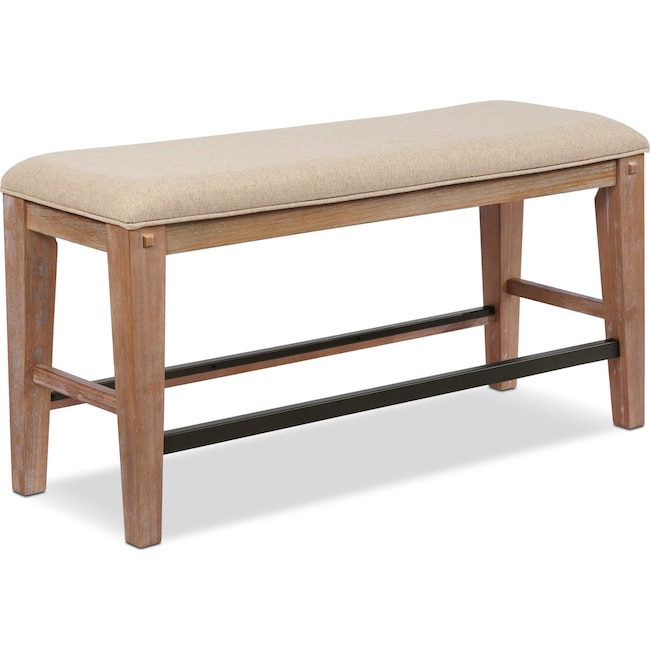 Dining Room Furniture - August Counter-Height Uphpolstered Bench - Latte