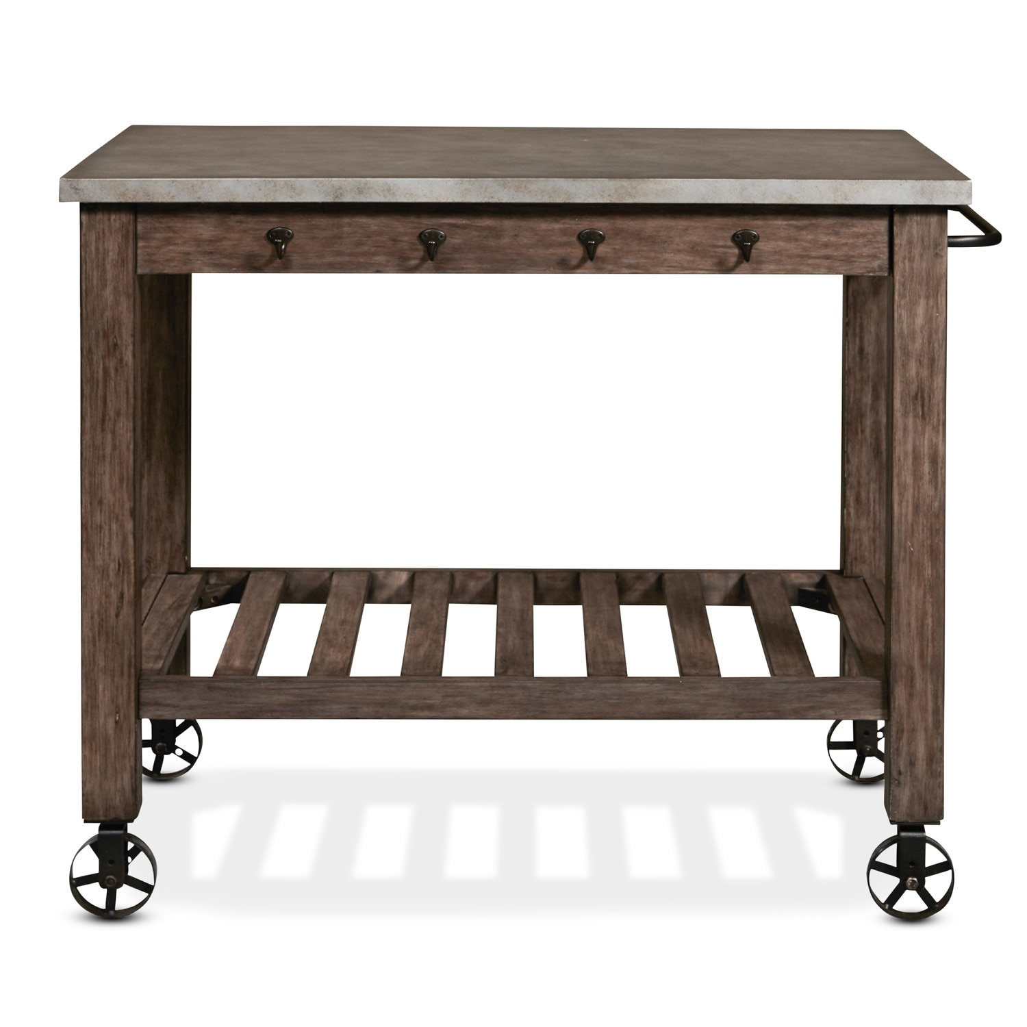 Accent And Occasional Furniture   Sullivan Kitchen Island   Distressed Metal