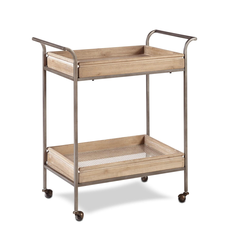 Accent and Occasional Furniture - Warren Bar Cart - Light Brown