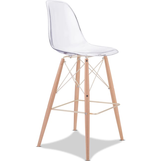 Accent and Occasional Furniture - Alma Bar Stool - Clear