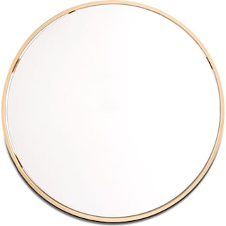 Small Round Mirror - Gold