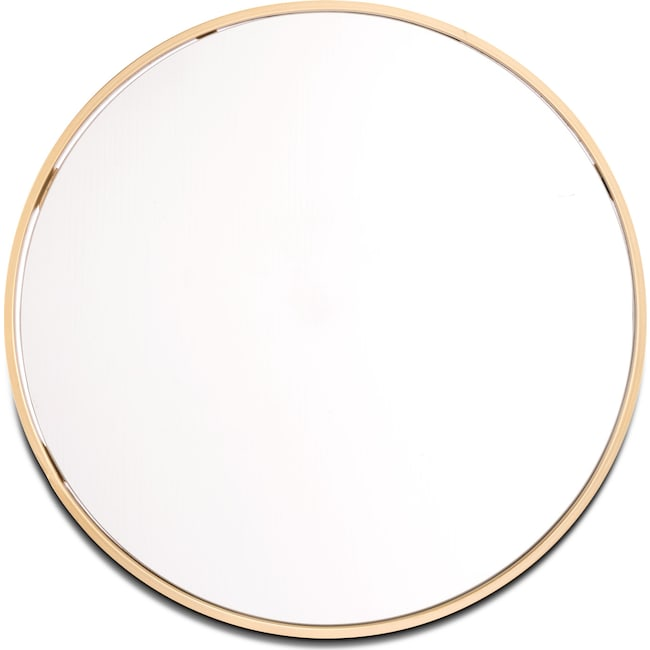 Home Accessories - Round Mirror - Gold