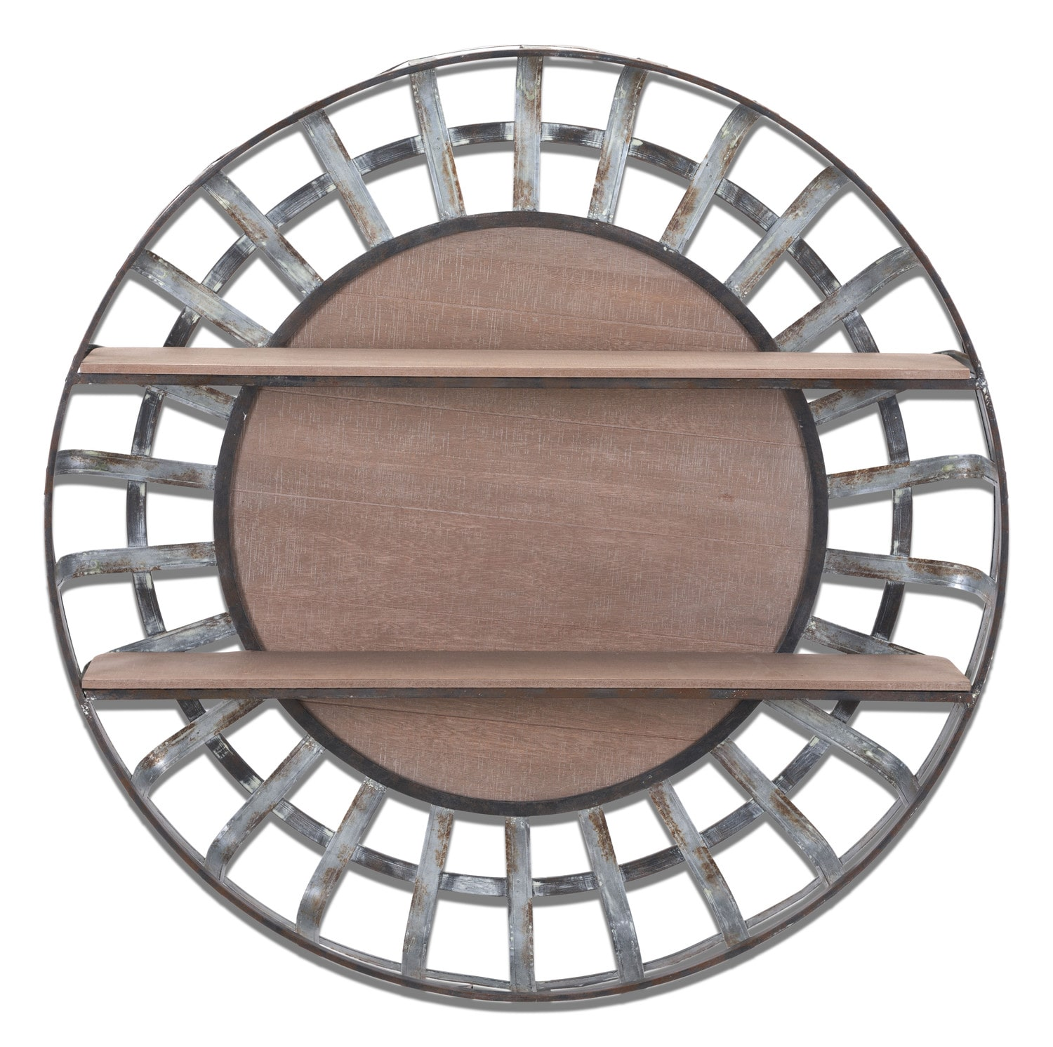 Round Hanging Wall Shelf Metal Value City Furniture