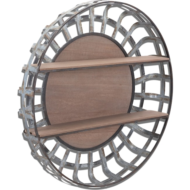 Home Accessories - Round Hanging Wall Shelf - Metal