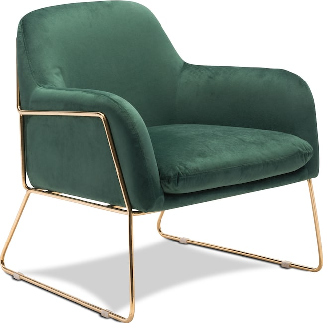 Living Room Furniture - Ava Accent Chair - Green