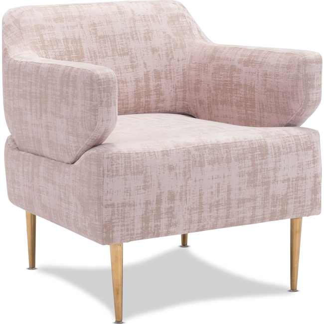 Living Room Furniture - Charlotte Accent Chair - Pink