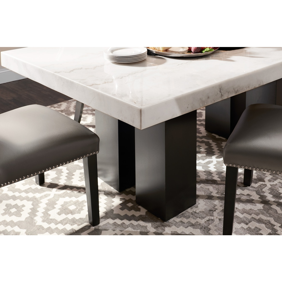 Artemis Marble Dining Table Value City Furniture And
