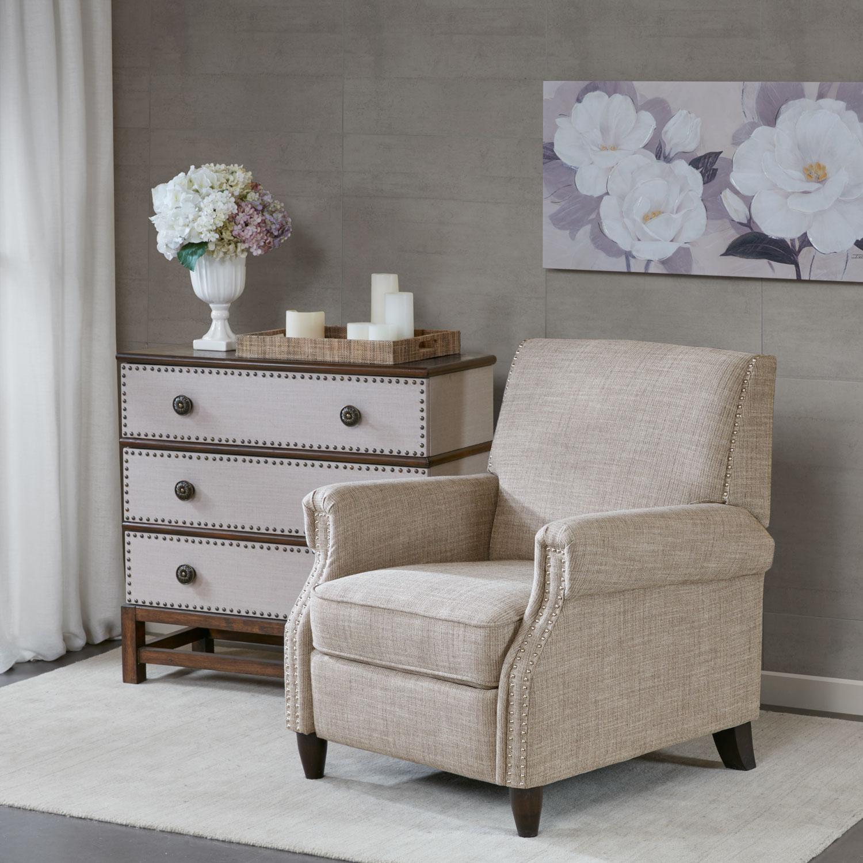 Living Room Furniture - Palmer Manual Recliner - Sand