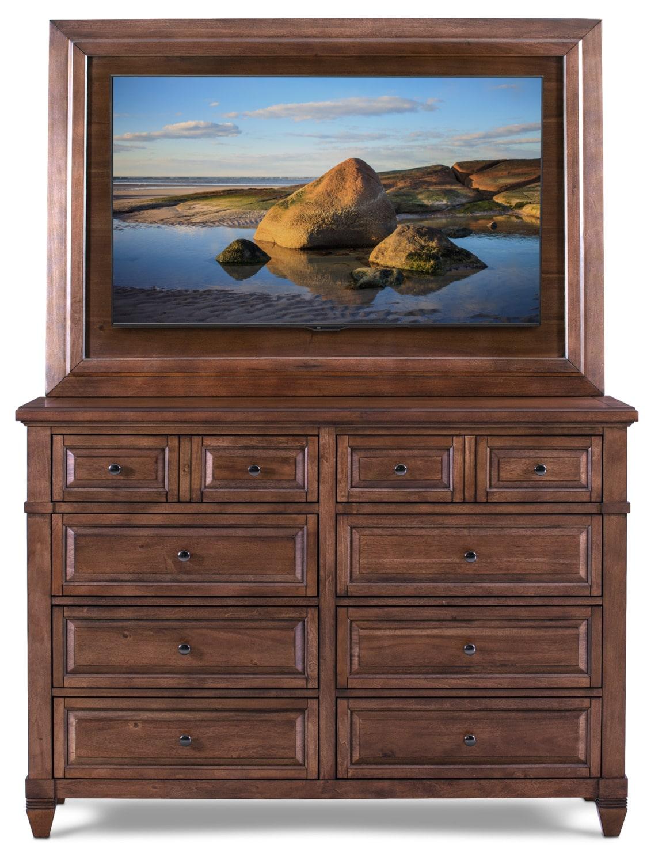 Bedroom Furniture - Dresser and TV Mount - Chestnut