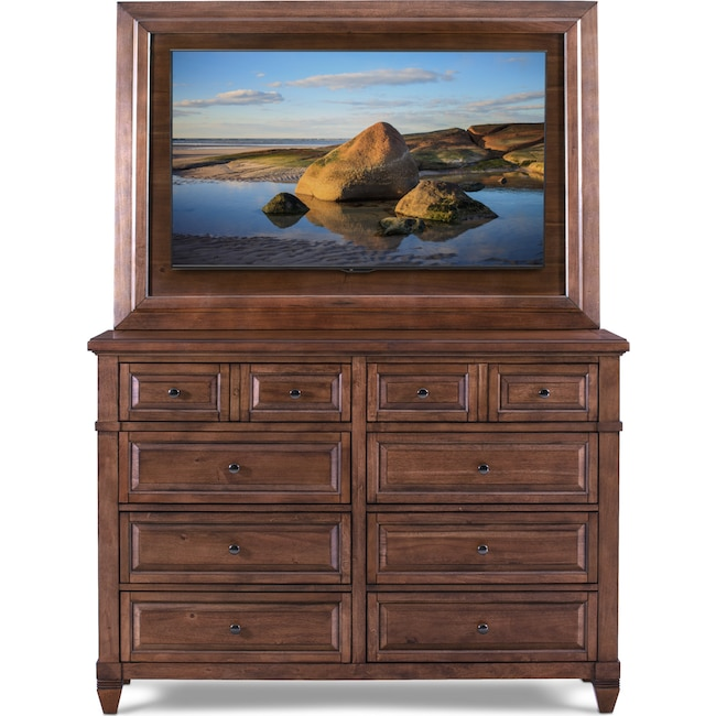 Tv Bedroom Furniture: Dresser With Tv Mount