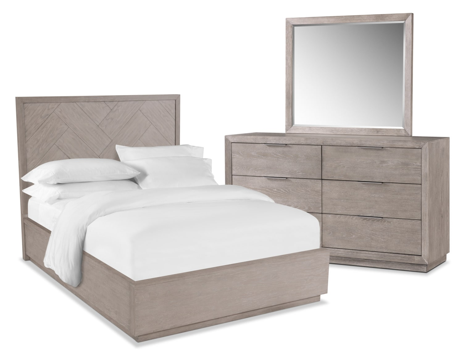Zen 5-Piece Bedroom Set with Dresser and Mirror