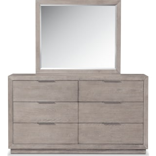 Zen Dresser and Mirror - Urban Gray