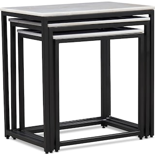 Simplicity Set of 3 Nesting Tables - Marble