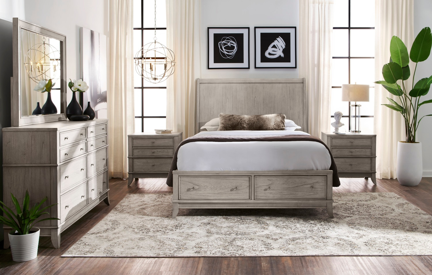 Hazel 5-Piece Queen Bedroom Set - Water White