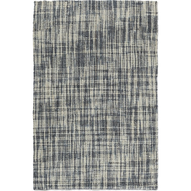 Rugs - Plaid 8' x 10' Area Rug - Slate and Ivory