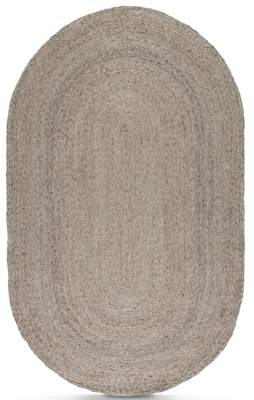 Rugs - Salida Jute 5' x 8' Area Rug - Silver