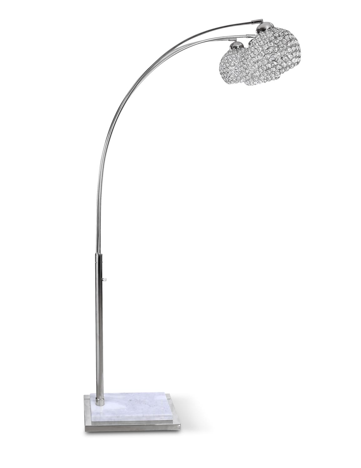 Home Accessories - Arc Floor Lamp - Crystal