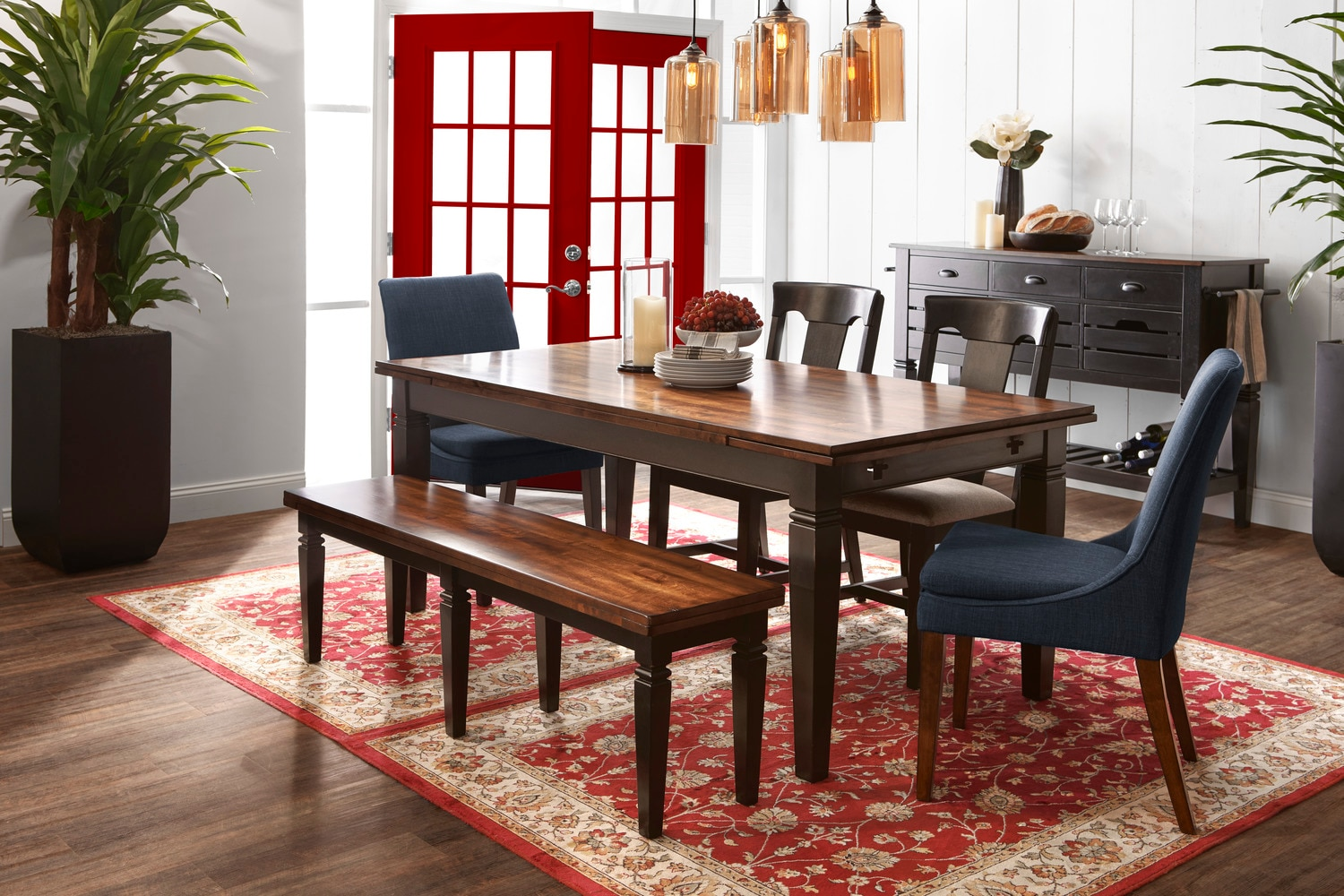 Dining table black hover touch to zoom click to change image