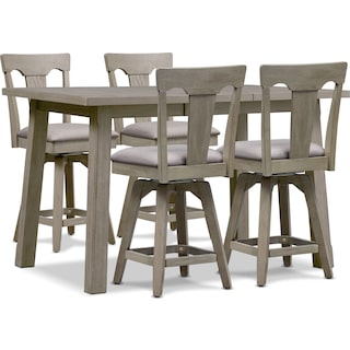 Maxton Counter-Height Table and 4 Stools - Graystone