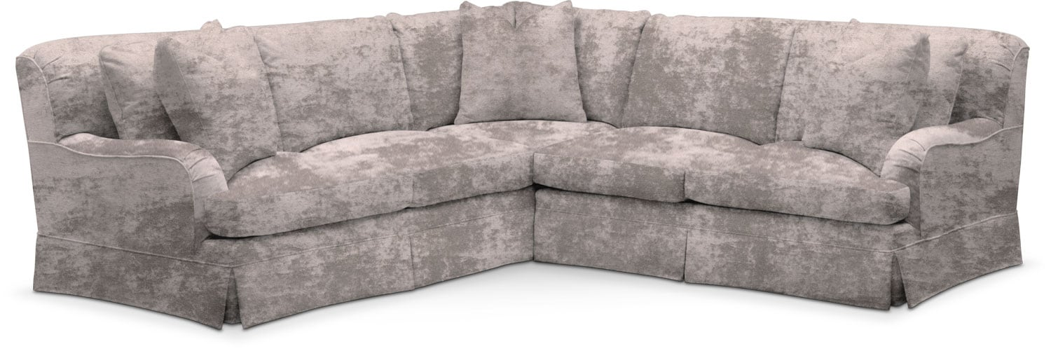 Living Room Furniture - Campbell 2-Piece Small Sectional