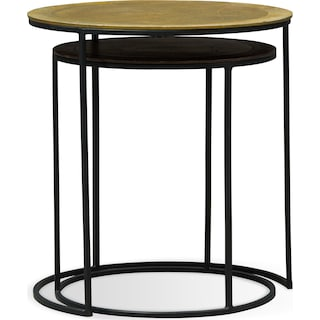 Ezra Nesting End Tables - Metallic